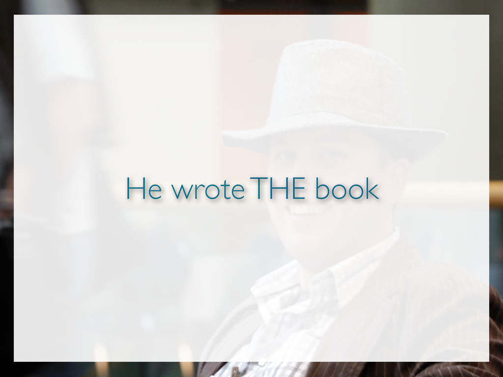 He wrote THE book