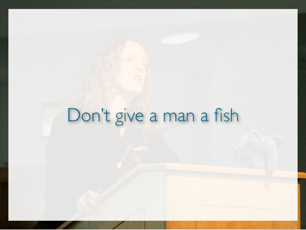 Don't give a man a fish