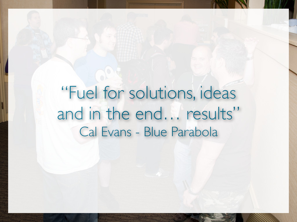 """""""Fuel for solutions, ideas and in the end… resu..."""