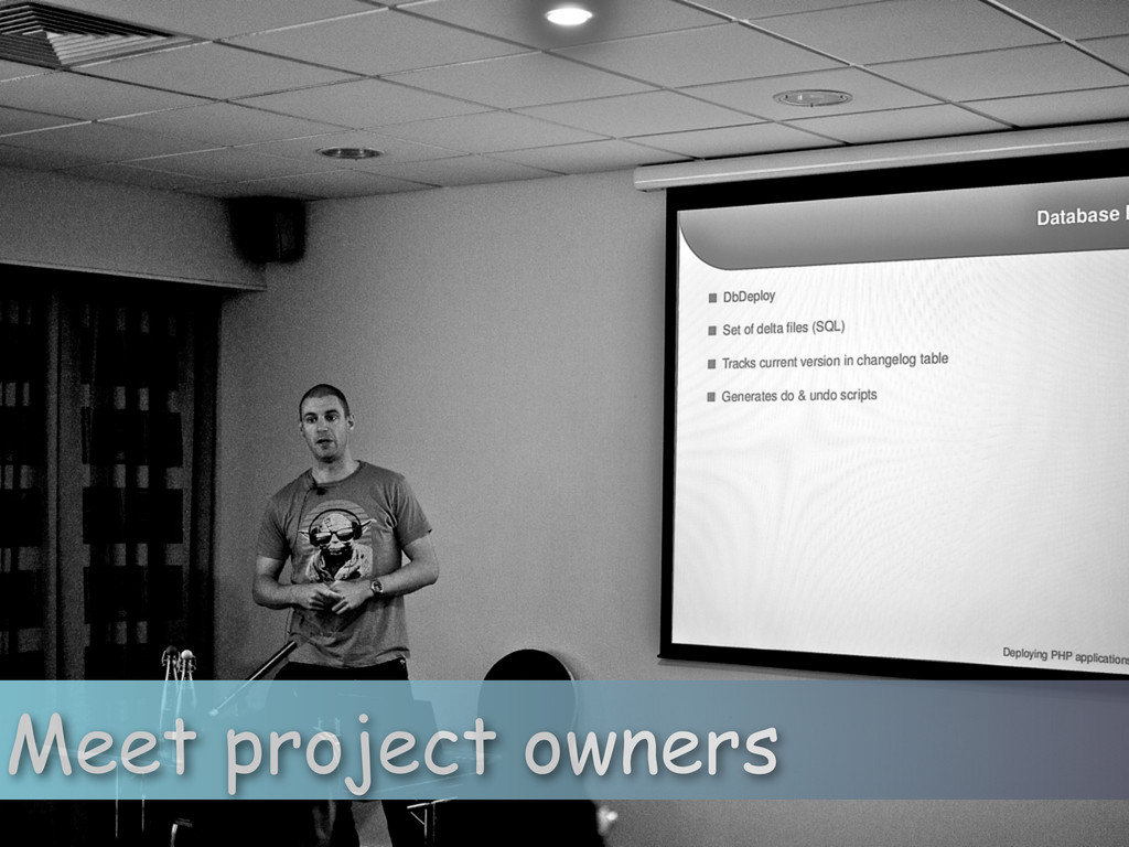 Meet project owners
