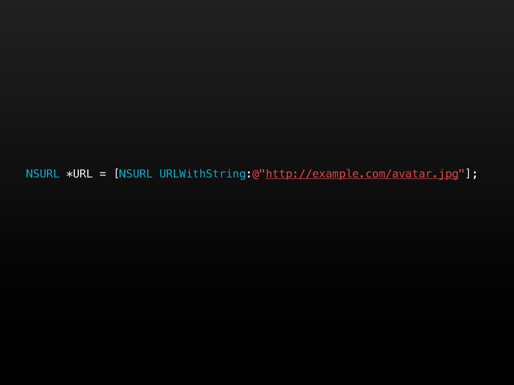 "NSURL *URL = [NSURL URLWithString:@""http://exam..."