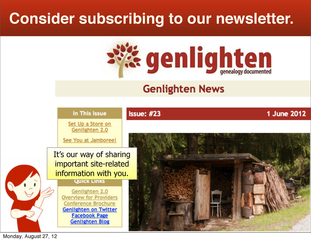 Consider subscribing to our newsletter. It's ou...
