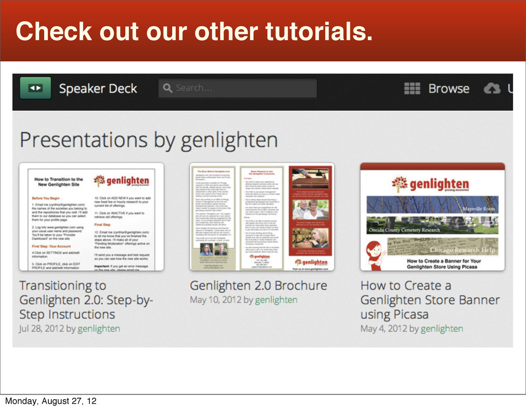 Check out our other tutorials. Monday, August 2...