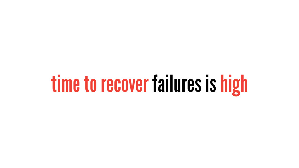 time to recover failures is high