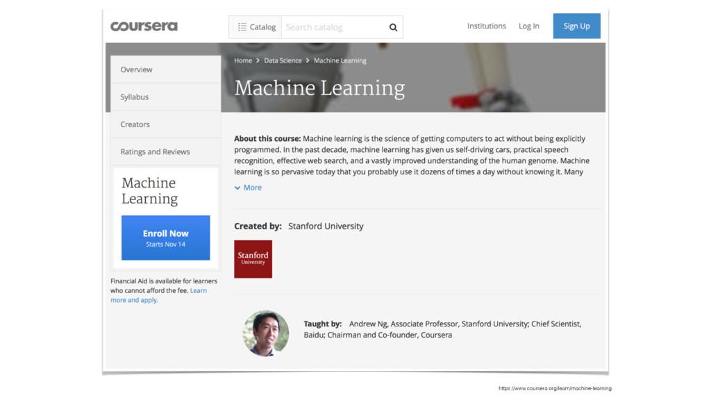 https://www.coursera.org/learn/machine-learning