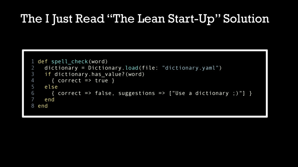 """The I Just Read """"The Lean Start-Up"""" Solution 1 ..."""