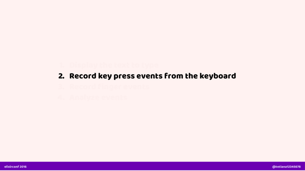2. Record key press events from the keyboard el...