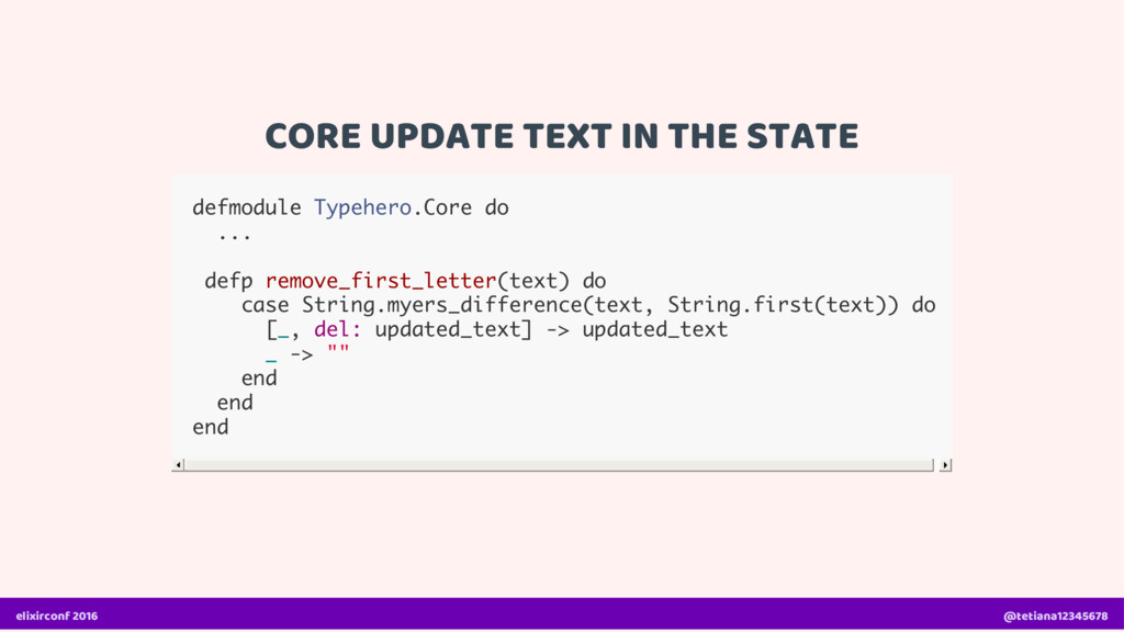 CORE UPDATE TEXT IN THE STATE defmodule Typeher...