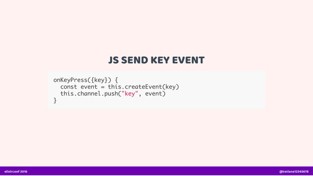 JS SEND KEY EVENT onKeyPress({key}) { const eve...
