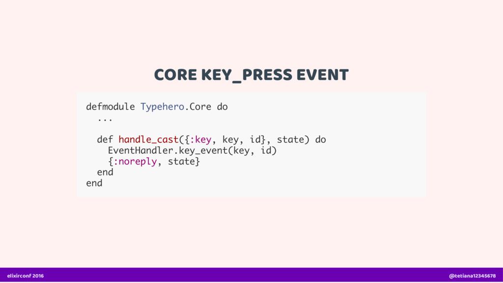 CORE KEY_PRESS EVENT defmodule Typehero.Core do...