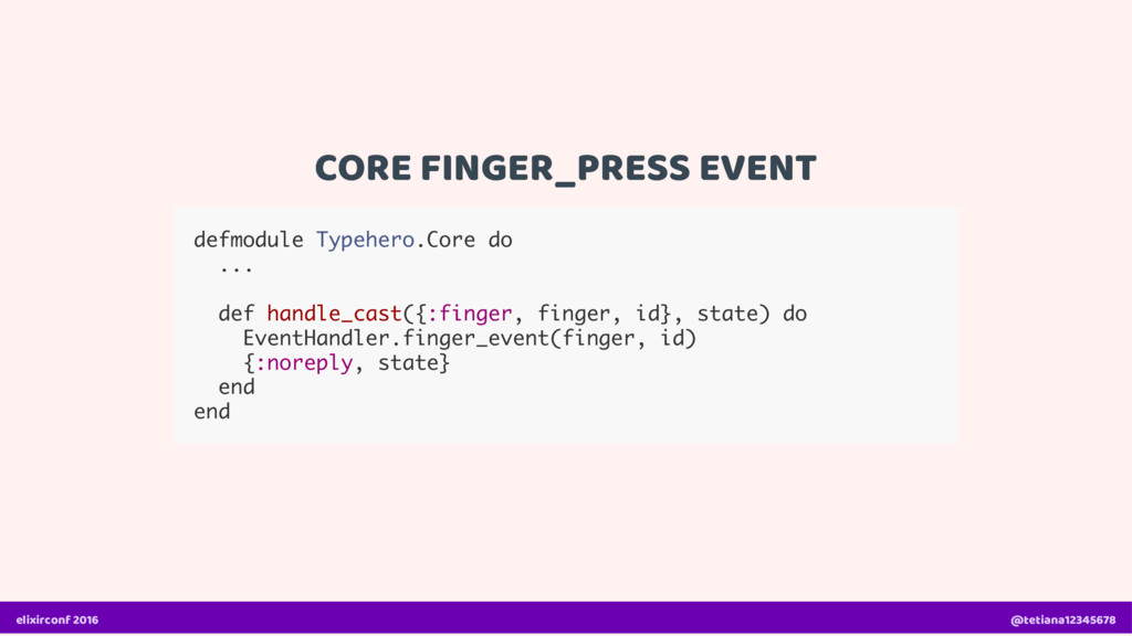 CORE FINGER_PRESS EVENT defmodule Typehero.Core...