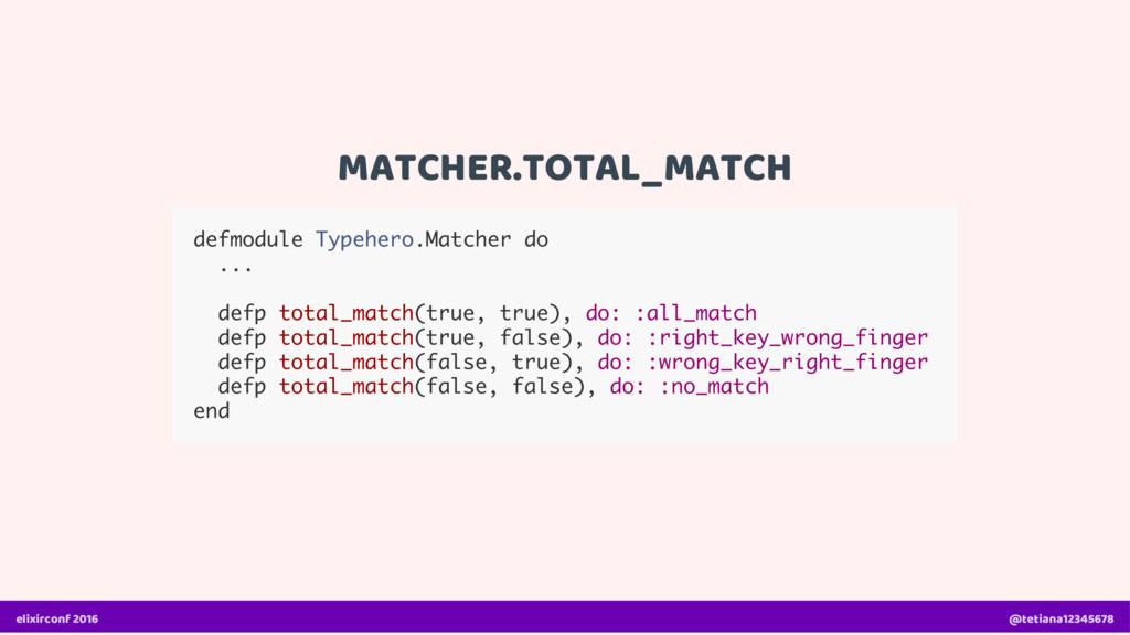 MATCHER.TOTAL_MATCH defmodule Typehero.Matcher ...