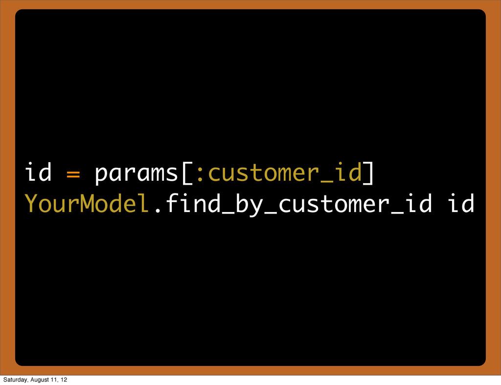 id = params[:customer_id] YourModel.find_by_cus...