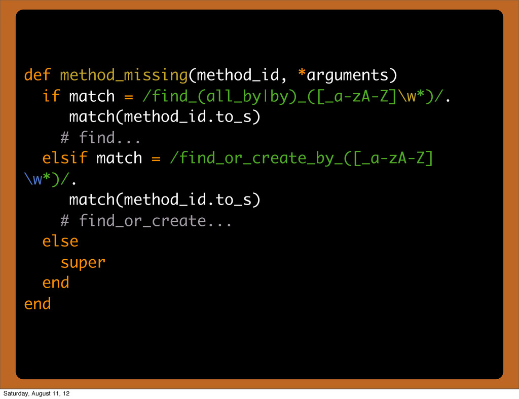 def method_missing(method_id, *arguments) if ma...