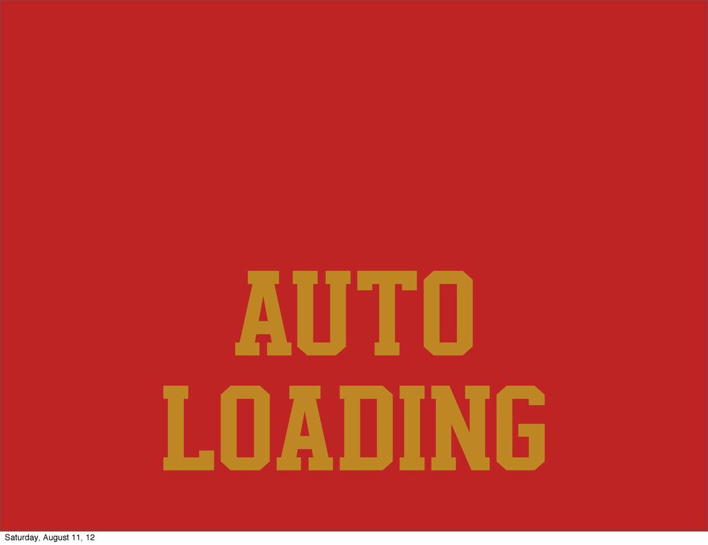 auto loading Saturday, August 11, 12