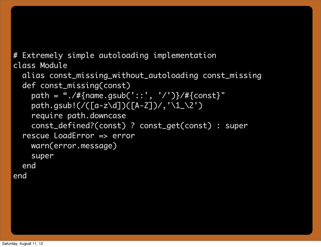 # Extremely simple autoloading implementation c...