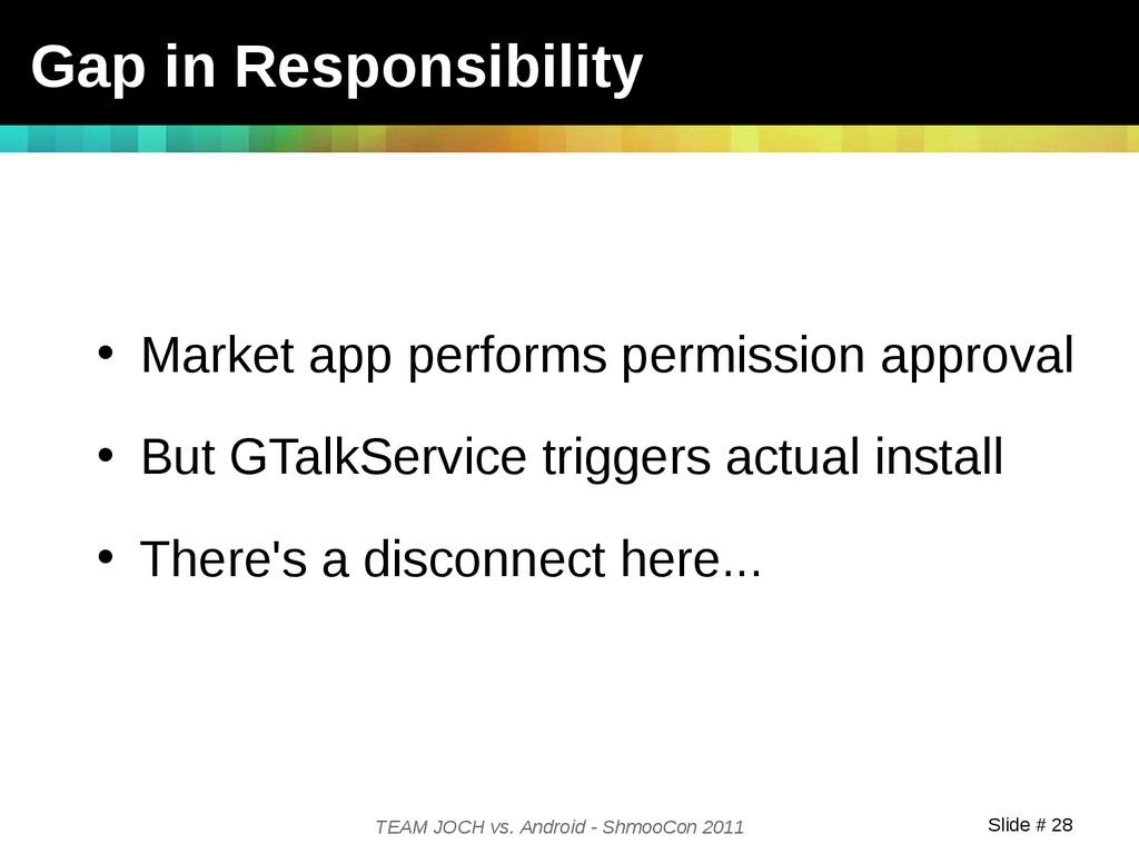 Slide # 28 TEAM JOCH vs. Android - ShmooCon 201...
