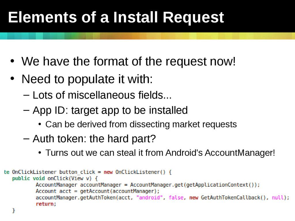 Slide # 33 TEAM JOCH vs. Android - ShmooCon 201...