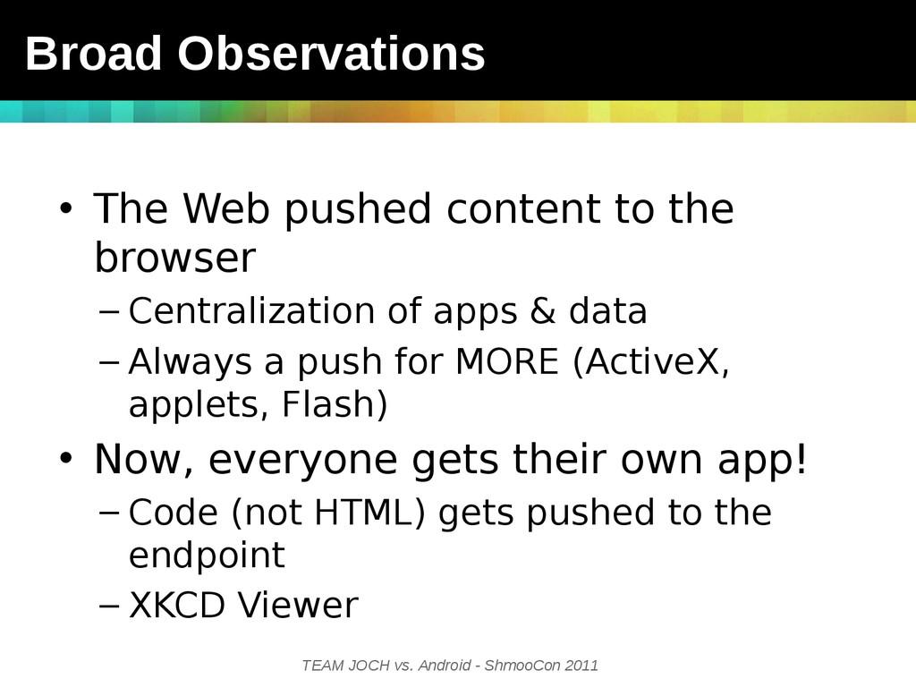 TEAM JOCH vs. Android - ShmooCon 2011 • The Web...