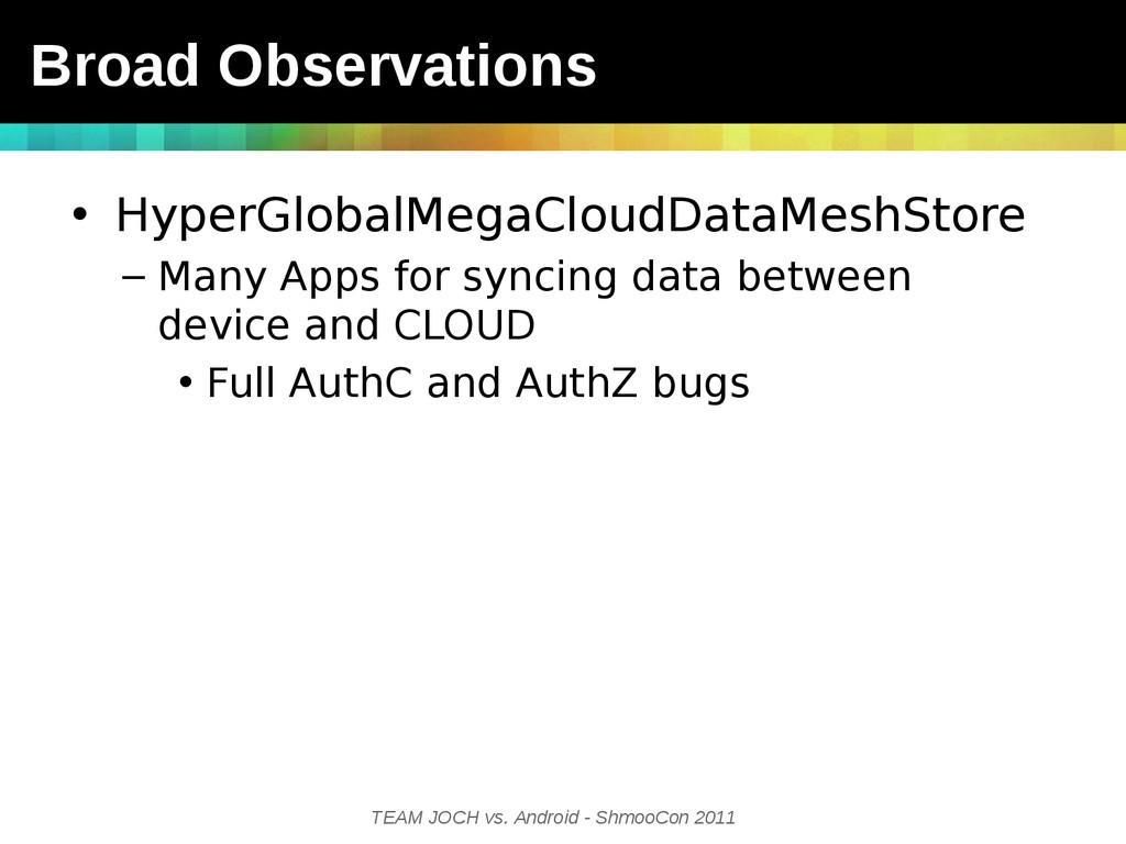 TEAM JOCH vs. Android - ShmooCon 2011 • HyperGl...
