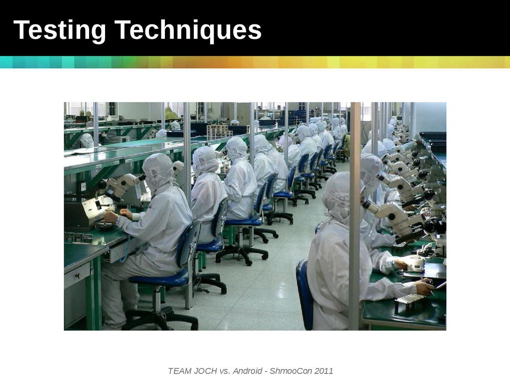 TEAM JOCH vs. Android - ShmooCon 2011 Testing T...