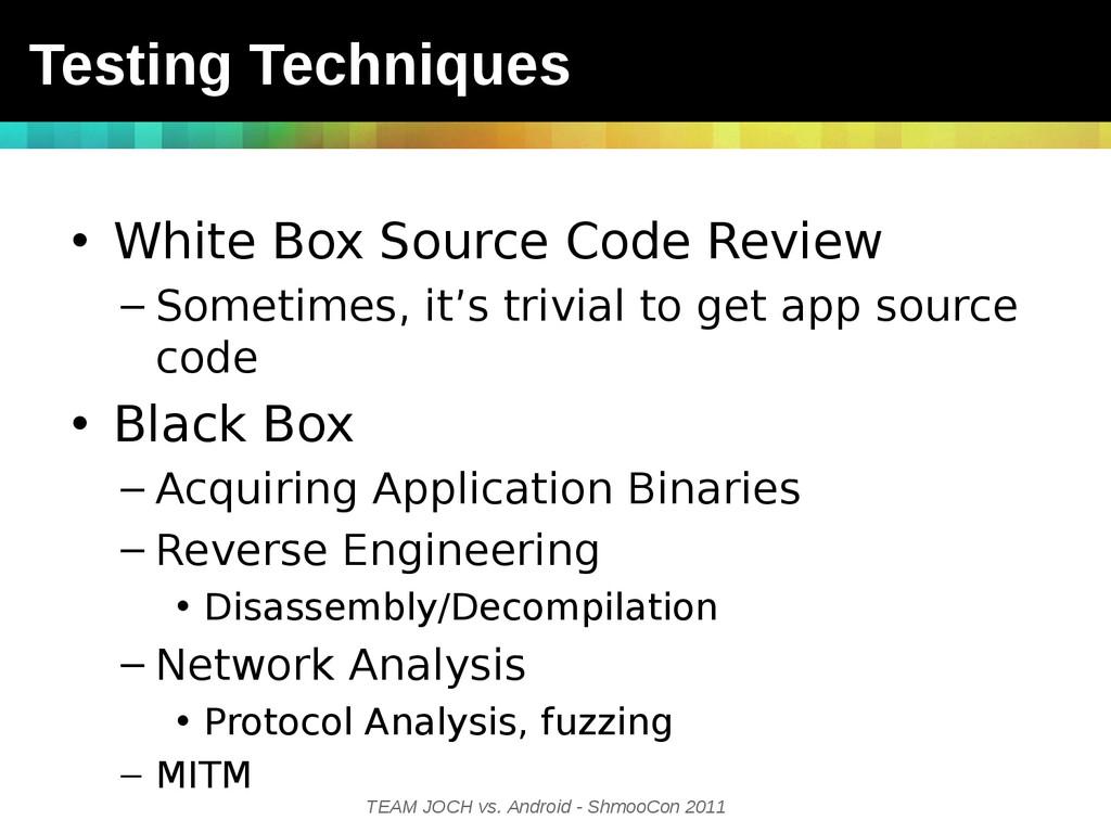 TEAM JOCH vs. Android - ShmooCon 2011 • White B...