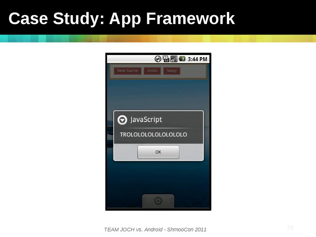 TEAM JOCH vs. Android - ShmooCon 2011 70 Case S...