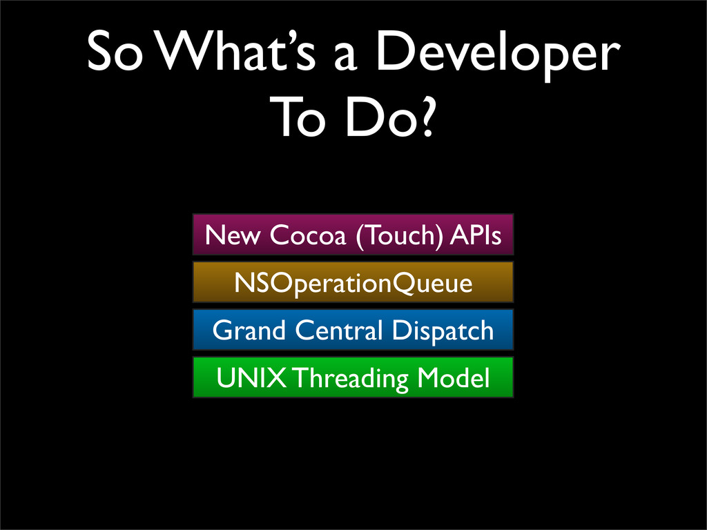 So What's a Developer To Do? UNIX Threading Mod...