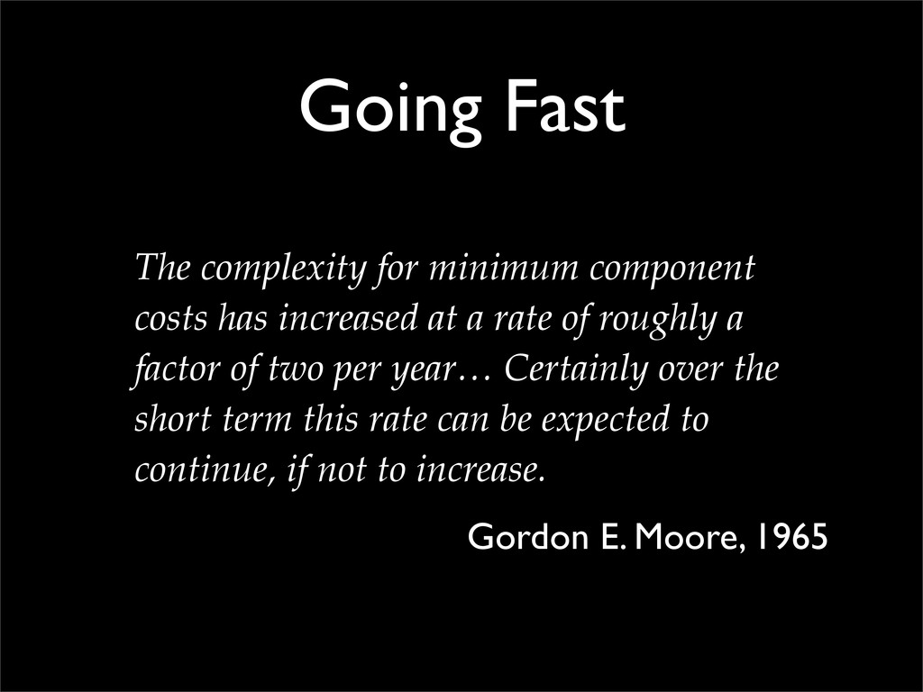 Going Fast The complexity for minimum component...