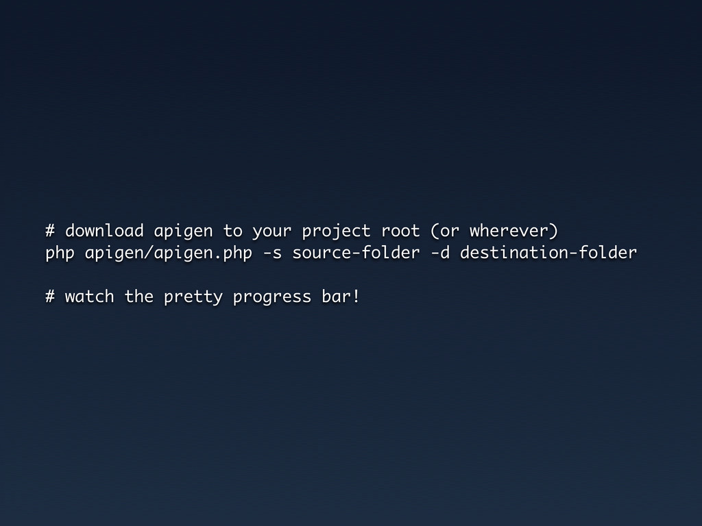 # download apigen to your project root (or wher...