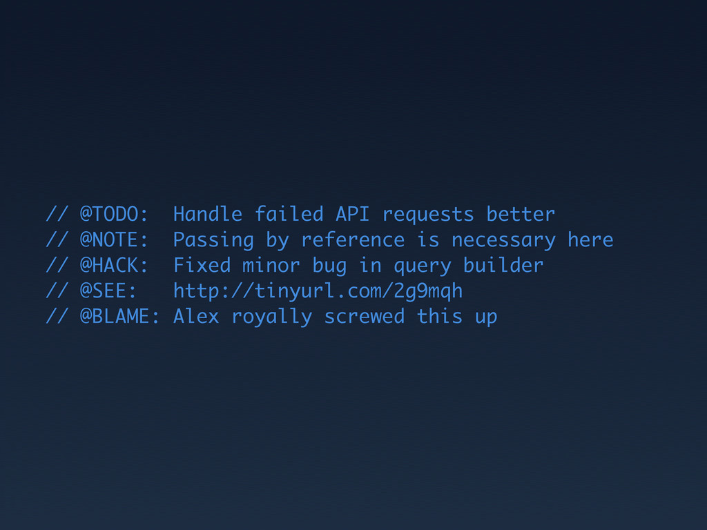 // @TODO: Handle failed API requests better // ...
