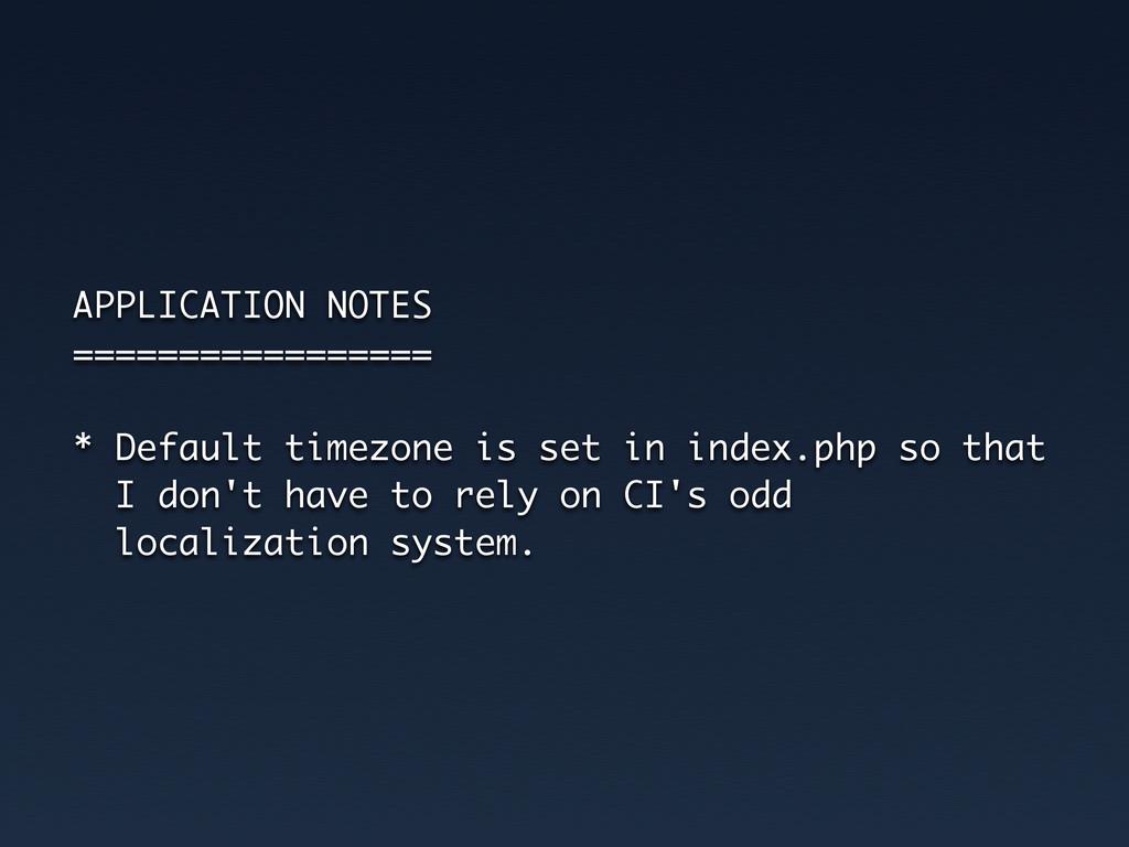 APPLICATION NOTES ================= * Default t...