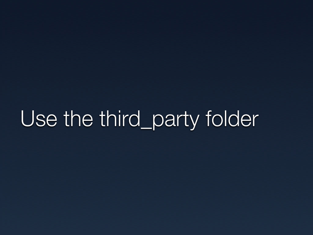 Use the third_party folder