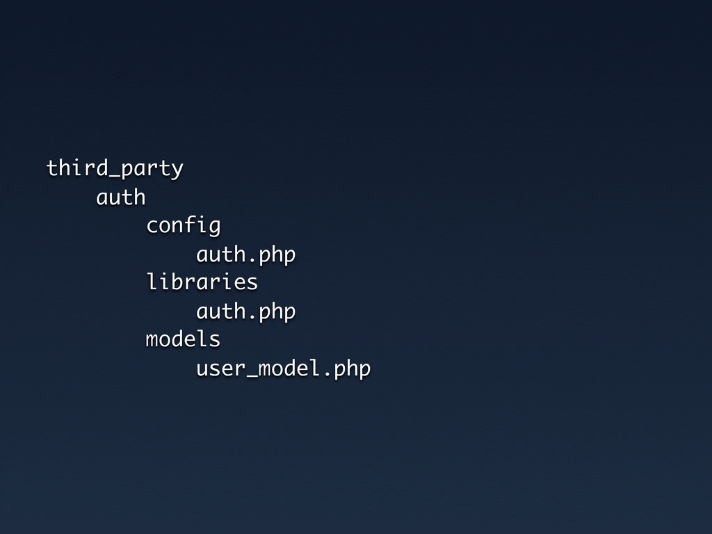 third_party auth config auth.php libraries auth...