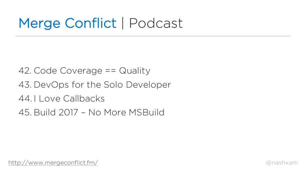 @nashxam Merge Conflict | Podcast 42. Code Cove...