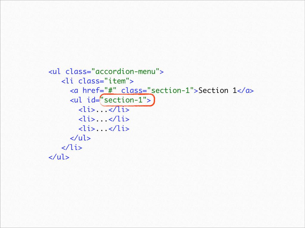"<ul class=""accordion-menu""> <li class=""item""> <..."