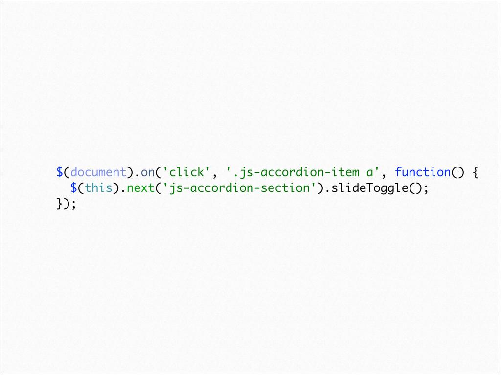$(document).on('click', '.js-accordion-item a',...