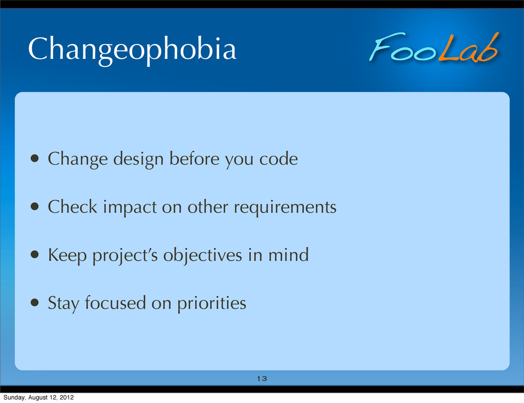 FooLab Changeophobia • Change design before you...