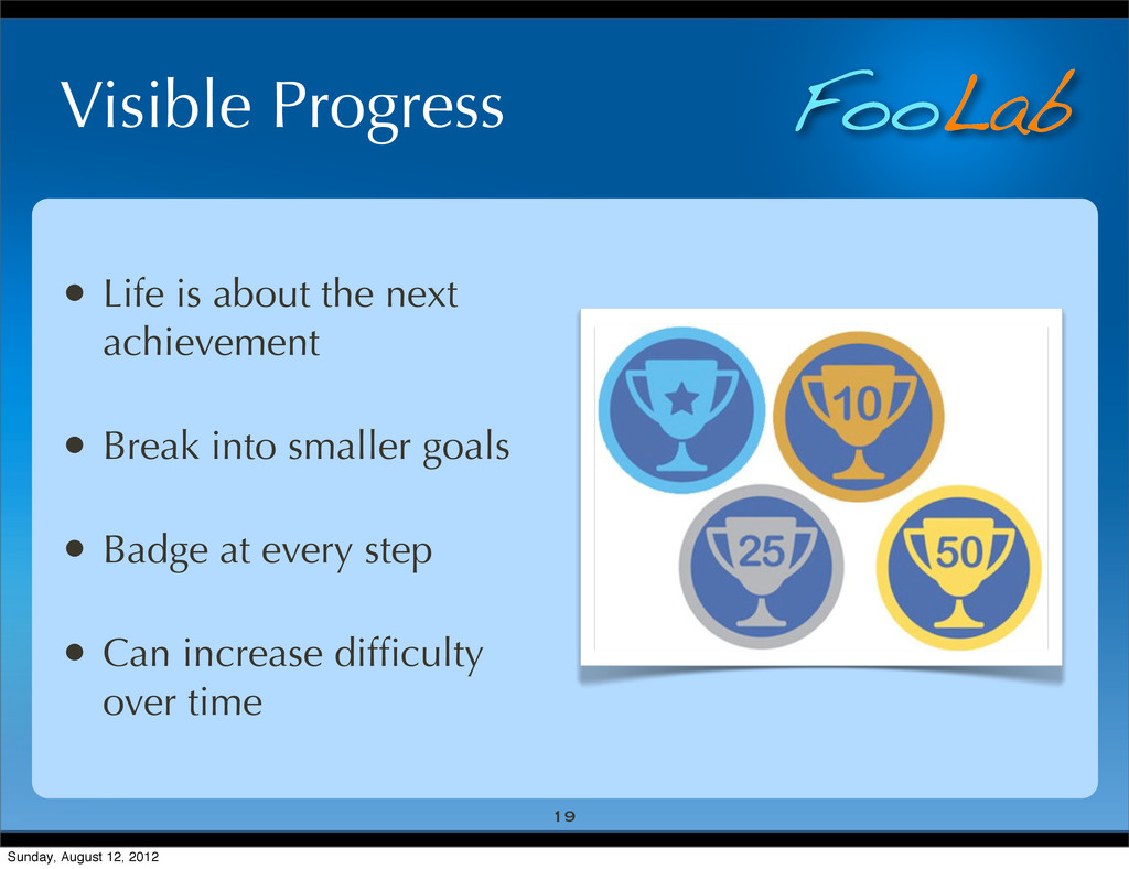 FooLab Visible Progress • Life is about the nex...