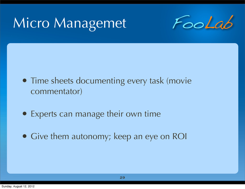 FooLab Micro Managemet • Time sheets documentin...