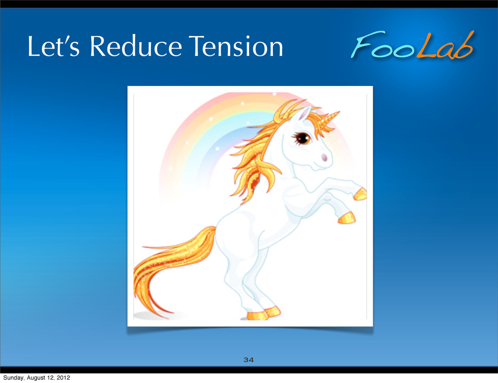 FooLab Let's Reduce Tension 34 Sunday, August 1...