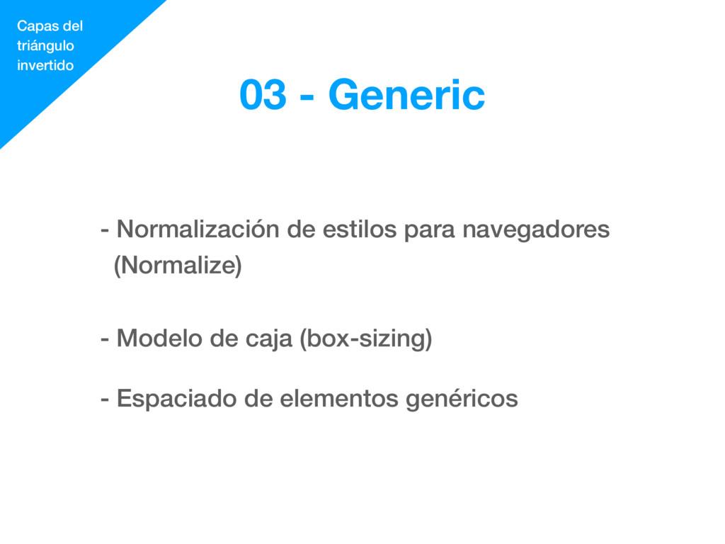 - Normalización de estilos para navegadores (No...