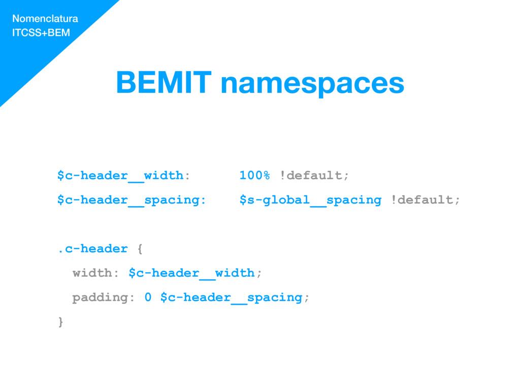 BEMIT namespaces $c-header__width: 100% !defaul...
