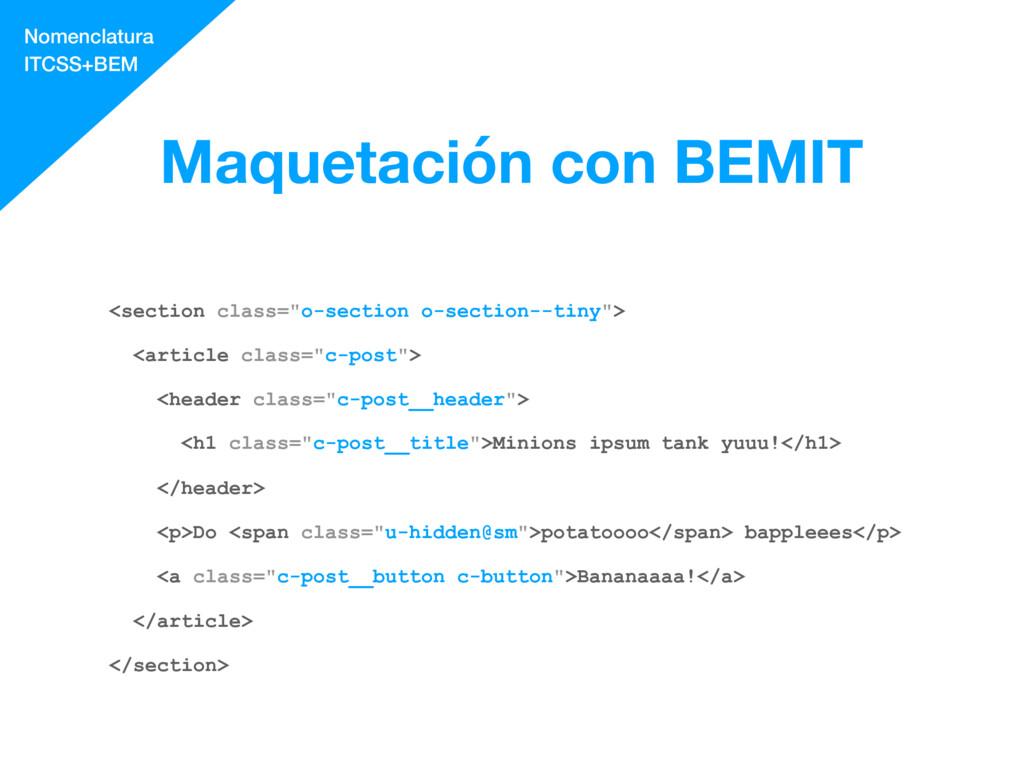 """Maquetación con BEMIT <section class=""""o-section..."""