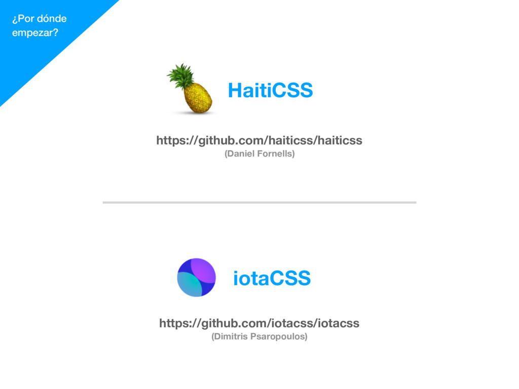 ¿Por dónde empezar? https://github.com/haiticss...