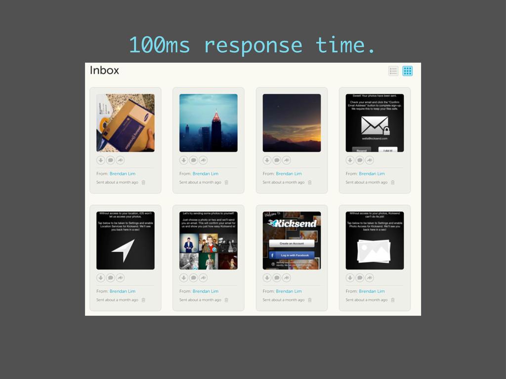 100ms response time.