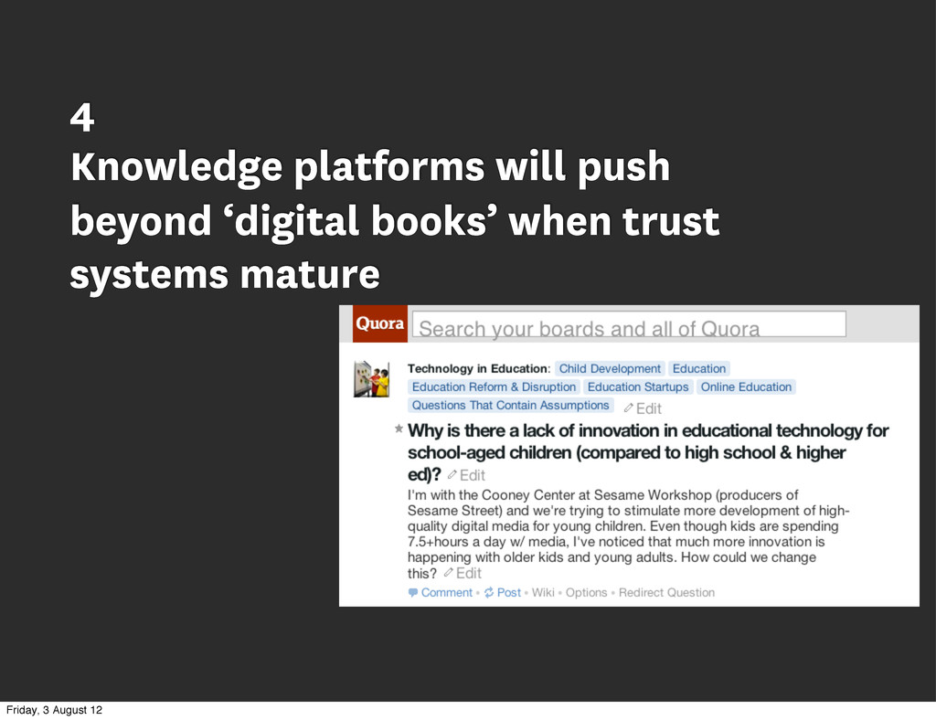 4 Knowledge platforms will push beyond 'digital...