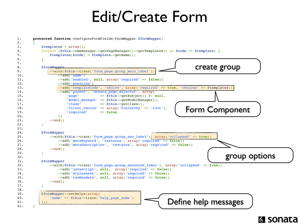 Edit/Create Form 1. protected function configur...