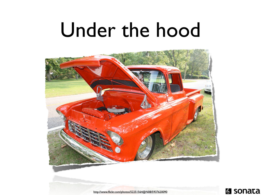 Under the hood http://www.flickr.com/photos/5225...