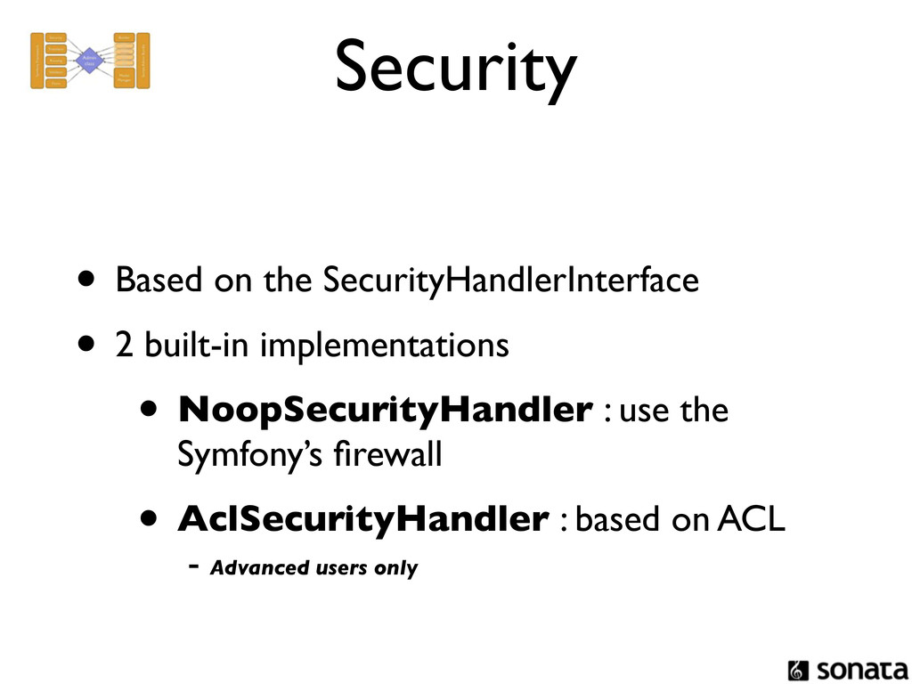 Security • Based on the SecurityHandlerInterfac...